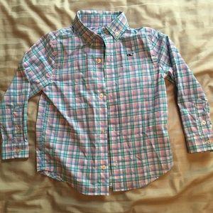 Vineyard Vines Boys Plaid Shirt 3T